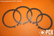 Кольцо пружинное упорное плоское ГОСТ 13942-86,  кольцо стопорное
