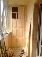 Конструкции из доски шкафчик,  полочки в дачном доме,  бане,  на балконе